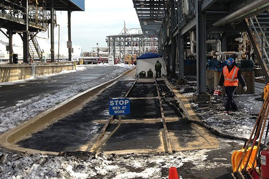 Kinder Morgan Train Liner Coating in Carteret, NJ